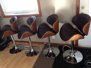 Eames Style Chairs / Barstools - brown