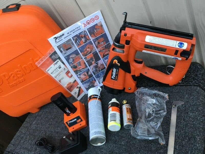 MINT!!Paslode IM65 F16 Second Fix Cordless Gas Brad Nailer/Nail Gun ...