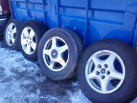 WHY BUY NEW **** LIGHTLY USED TIRES & RIMS READY TO ROLL!