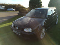 2001 Y Volkswagen Golf Cross 4x4 2.8 Petrol Black.