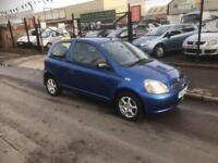2002/52 Toyota Yaris 1.0 VVTi Blue Colour Collection FULL MOT P/X TO CLEAR £995