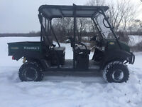Kawasaki Mule 4010Trans, Pwr Steer, winch, roof, window, Waranty