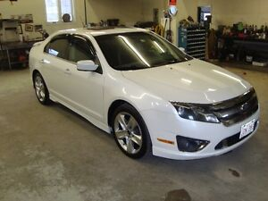 2011 FORD FUSION SPORT AWD 4DR WHITE IN COLOR $6995 PLUS HST