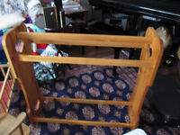 large solid pine quilt rack new, never used