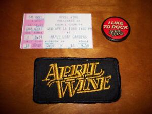 Vintage 1980 APRIL WINE Concert Collectibles