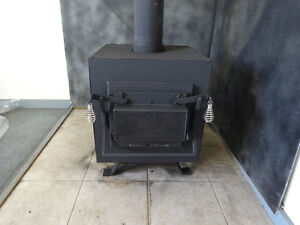 CERTIFIED FOR YOUR HOME BLACK PINE WOOD STOVE RUNS GREAT!!!!!