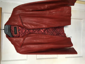 Jones New York leather coat - small. . Black or red available.