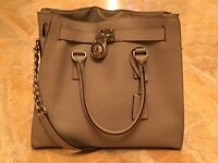 Michael Kors Hamilton Grey Purse