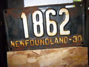 Wanted Newfoundland License Plates