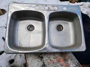 Double steel sink