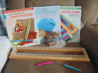 Wooden Knitting Loom With Books