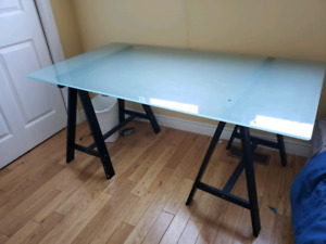 Glass IKEA frosted table