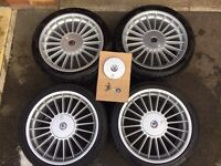 "Genuine BMW 18"" Alpina BBS alloys and tyres"