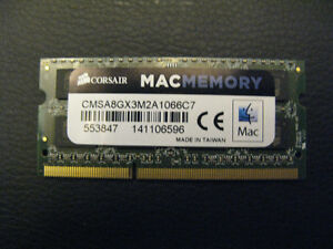 4gb Corsair DDR3 pc3-8500s Laptop Ram