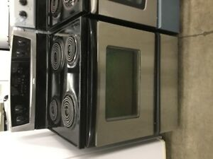 "30"" Whirlpool Black Electric Coil Top Stove Range"