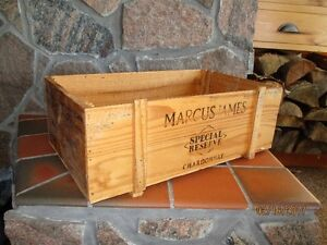 MARCUS JAMES wood Wine Crate