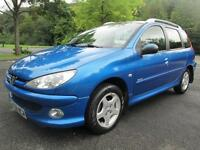 06/56 PEUGEOT 206 SW 1.4 VERVE ESTATE IN MET BLUE WITH SERVICE HISTORY