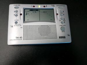 KORG Digital Tuner Metronome,  Model: TM-40