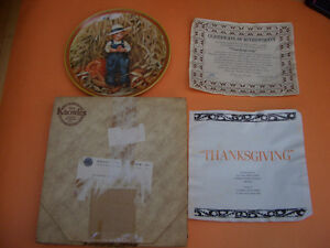 """KNOWLES """"THANKSGIVING"""" COLLECTOR PLATE COMPLETE WITH BOX AND COA London Ontario image 3"""