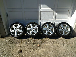 "Audi 17"" rims and 18"" aftermarket rims"