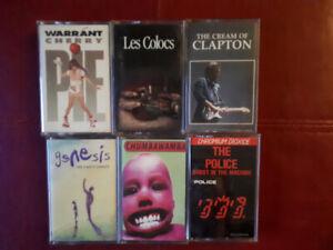 Cassettes audio à 2$ chaque OU LE LOT POUR 10$