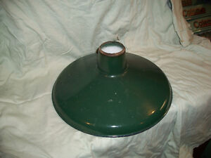 Good Used Antique Green Porcelain Light Shade Service Station?
