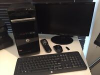 HP Pavilion p6-2388ea desktop PC with Samsung monitor