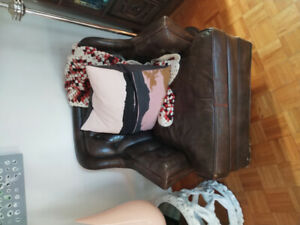Retro Leather Chair for Sale