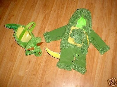 Green Boys Infant Baby Gator Alligator Dinosaur Halloween Costume-18-24 mo](Alligator Baby Costume)