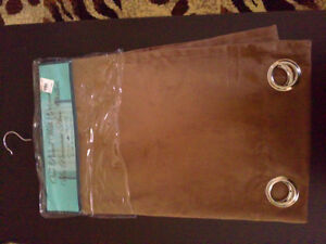 Brown velour long curtain panel New with tags