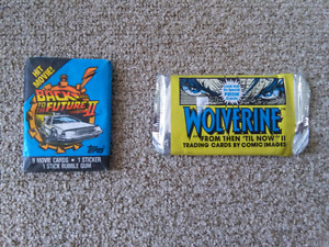 Back to the Future 2 and Wolverine Trading Cards