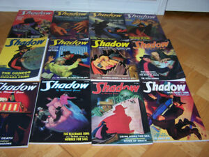 12 large softcover books THE SHADOW by Maxwell Grant