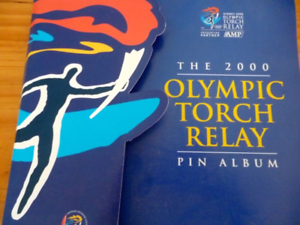 Olympic Torch Relay Y2000 Pin Album, memories, collectable