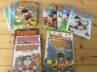 Original Beano and Dandy annuals, 14 in total