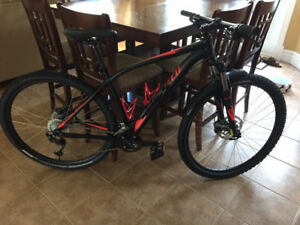 NEW SPECIALIZED ROCKHOPPER WITH CUSTOM FENDERS FOR SALE.