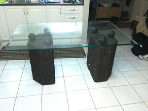 """Beautiful Beveled 1/4"""" Glass Table  for Sale!"""
