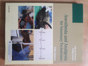 Anesthesia and Analgesia for Veterinary Technicians Fifth Ed