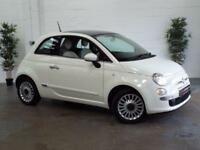 2013 13 FIAT 500 1.2 LOUNGE 3D 69 BHP PAN ROOF LOW MILEAGE