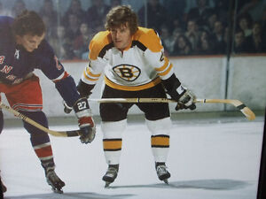 BOBBY ORR #4 BOSTON BRUINS LARGE FRAMED GICLEE CANVAS FACEOFF London Ontario image 6