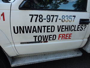 UNWANTED CARS AND TRUCKS HAULED AWAY FREE