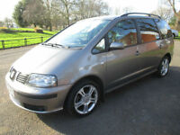 2006 56 SEAT ALHAMBRA 2.0 TDi STYLANCE 7 SEATER LONG MOT SH ABSOLUTE BARGAIN LEATHER STUNNER PX SWAP