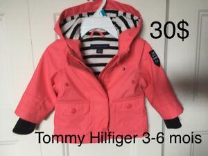 Manteau Tommy Hilfiger de printemps automne 3-6 mois