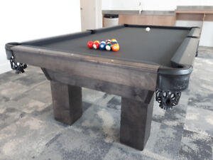 CANADIAN MADE POOL TABLES - CHOOSE YOUR COLOURS