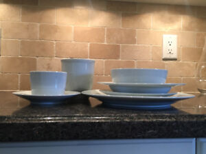 6-piece Joshua Maxwell white dish set for sale - service for 12