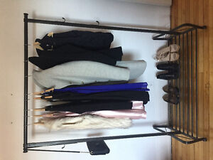 Sturdy/chic black clothing rack