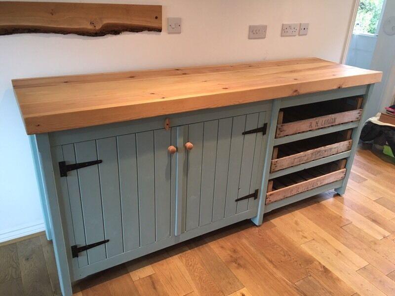 Solid Wood Freestanding Kitchen Unit Island
