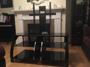TV stand unit with built in mount
