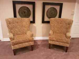 Schnadig  wing side chairs