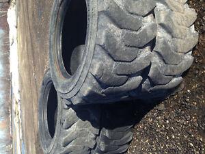 4 Skid steer tires