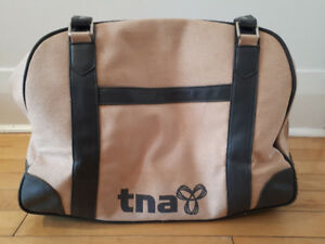 TNA gym/tote bag, dusty rose and grey